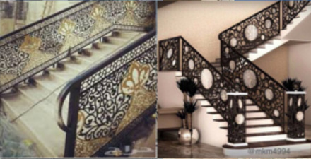 Laser Cut Decorative Staircase Rails