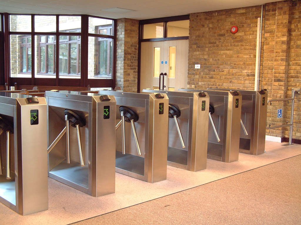 Waist Height Security Turnstiles
